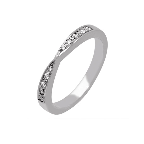 Bow Shape Diamond Set Wedding Band