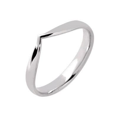 Wishbone V Shape Wedding Band