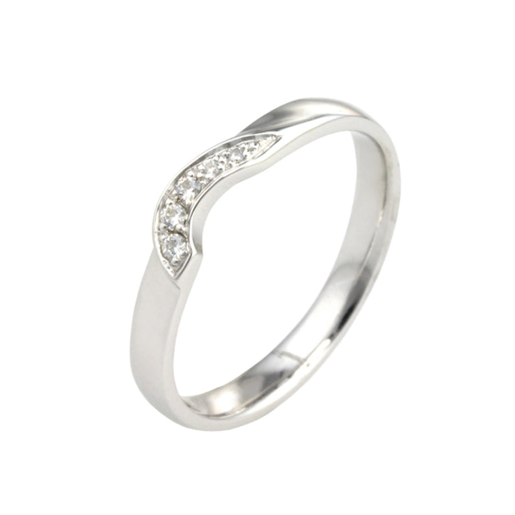 Asymmetric Diamond Wedding Band