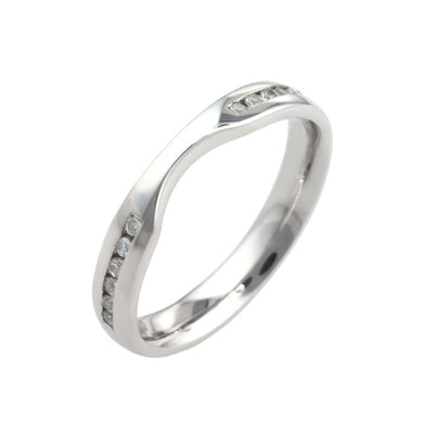 Shaped Diamond Wedding Band