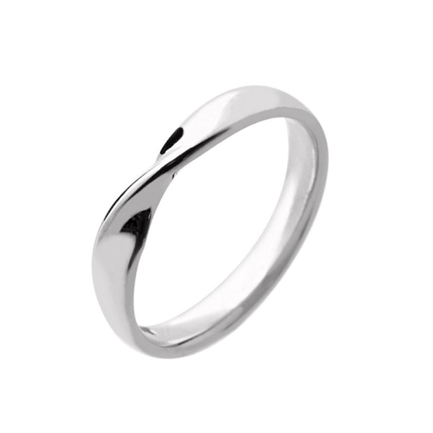 Ribbon Twist Bow Shape Wedding Band
