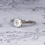 Art Deco Style 1.15 Carat Old European Cut Diamond Solitaire