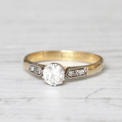 Vintage 0.50 Carat Brilliant Cut Diamond Solitaire
