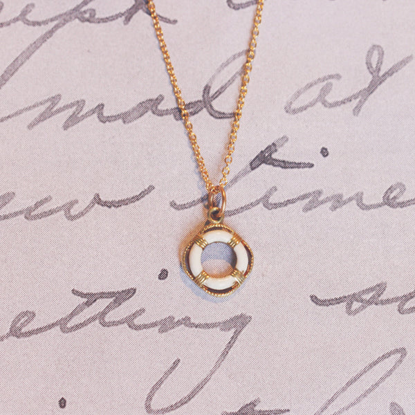 Vintage 9ct Gold Life Ring Charm Pendant