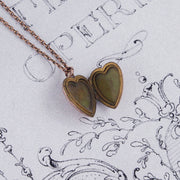 Victorian 9ct Rose Gold Heart Shape Locket and Chain