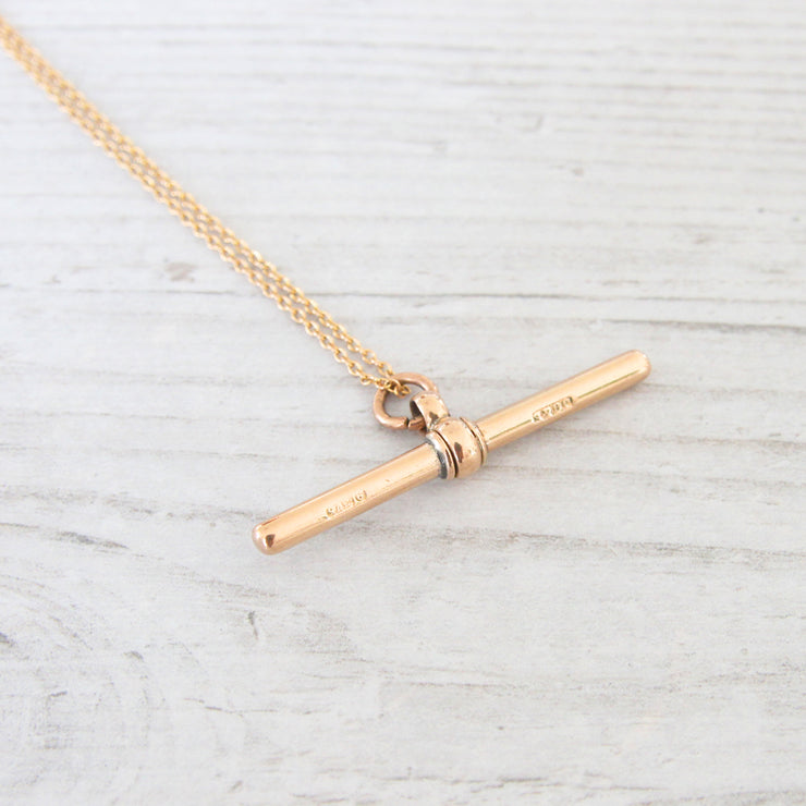 Victorian 9ct Gold T-Bar Pendant