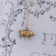 Vintage 'Lucky Pig' Solid 9ct Gold Charm Pendant