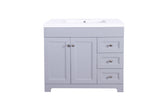 "Shaker Series 36"" Matte Grey- Kitchen Cabinets"
