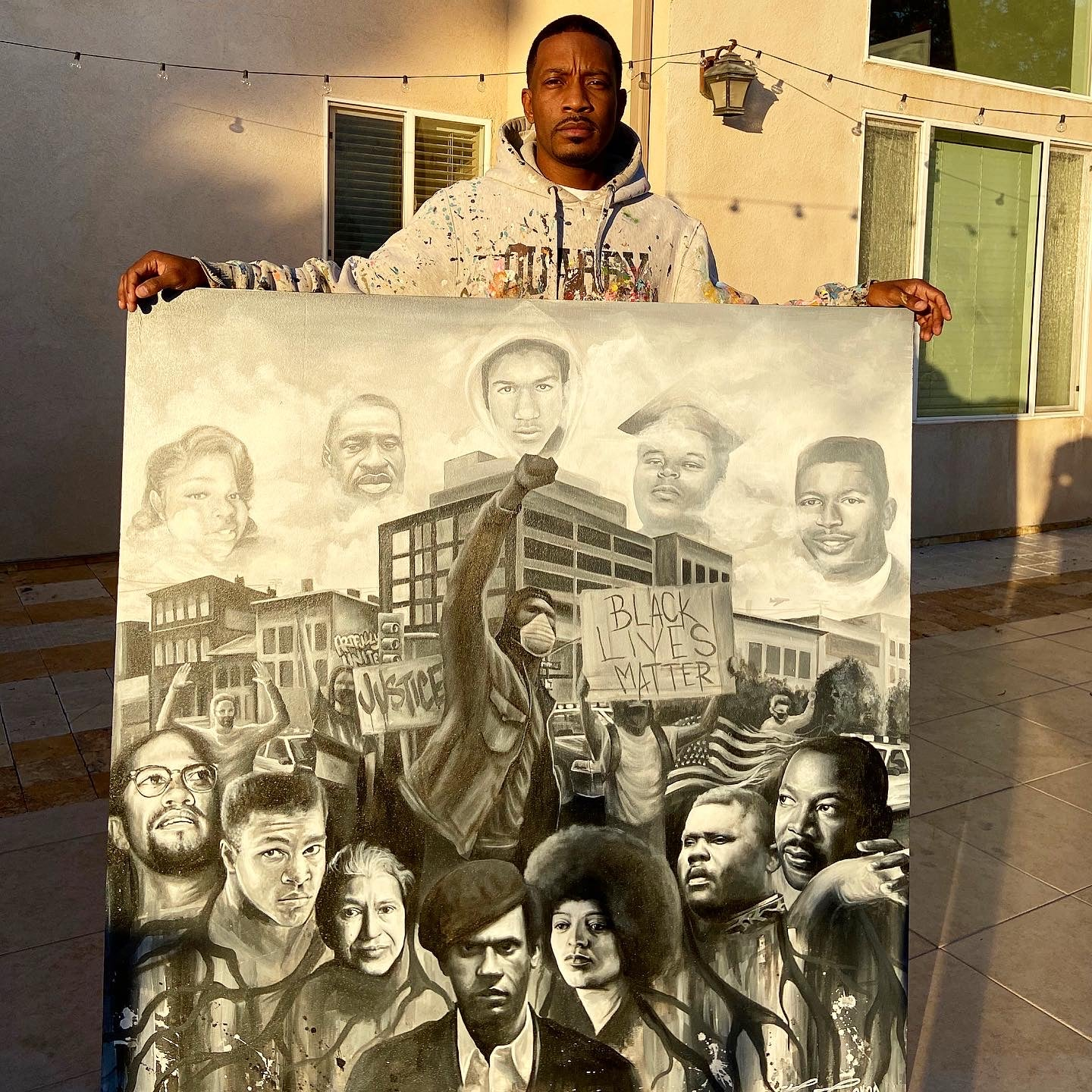 """Revolutionary Roots"" Painting"