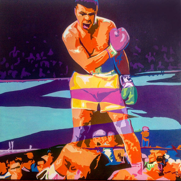 "Custom Muhammad Ali ""The Knockout"" Painting"