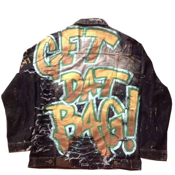 "Custom ""Get Dat Bag"" Jean Jacket - BYN Customs"
