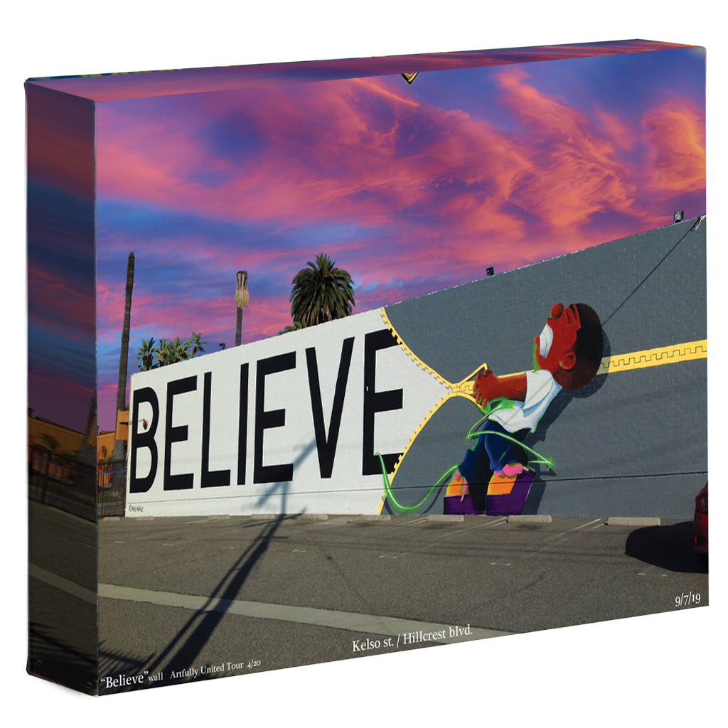 "Artfully United's ""Believe"" wall print"