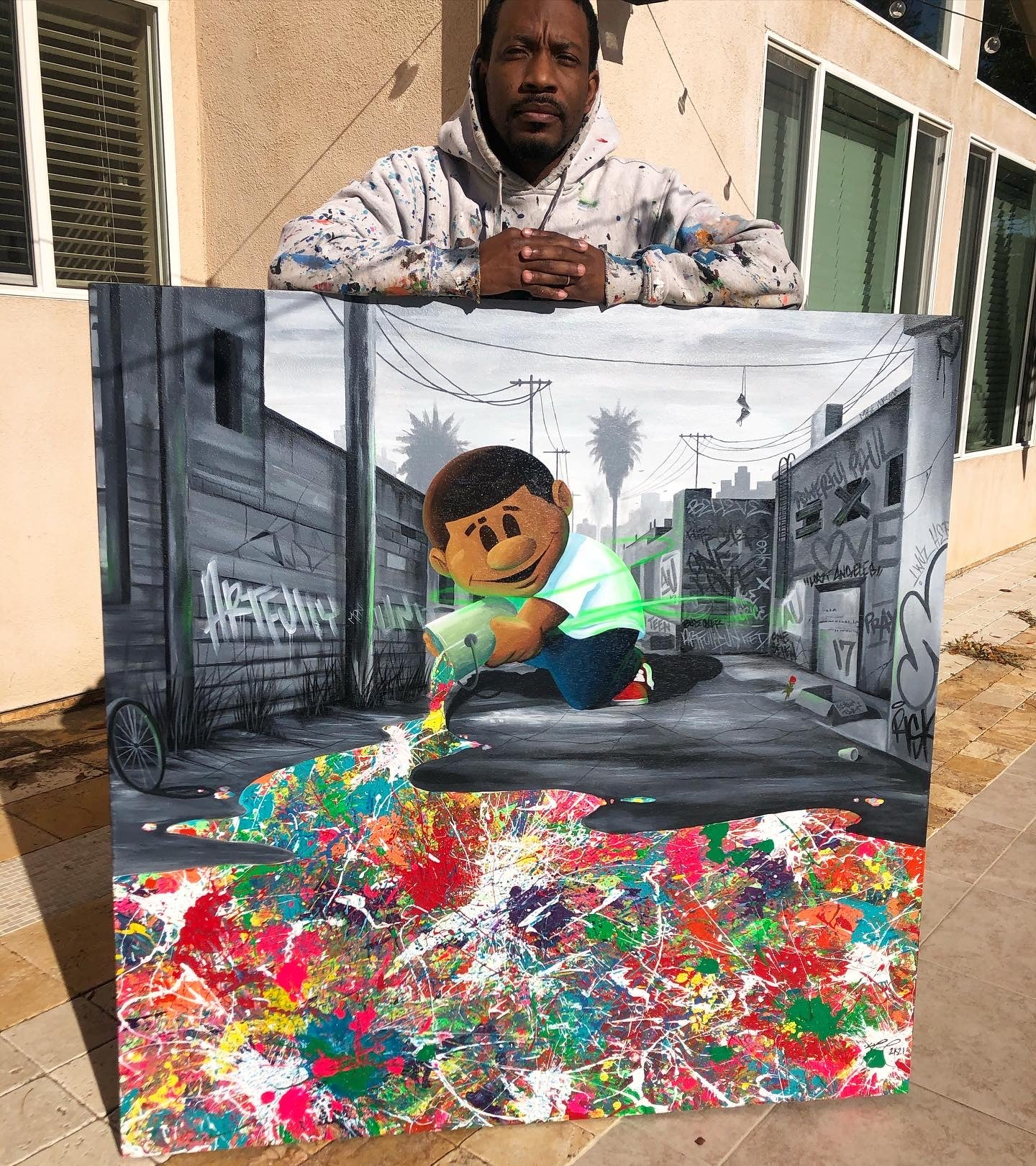 "Powerful Paul ""Spread The Love"" Painting"