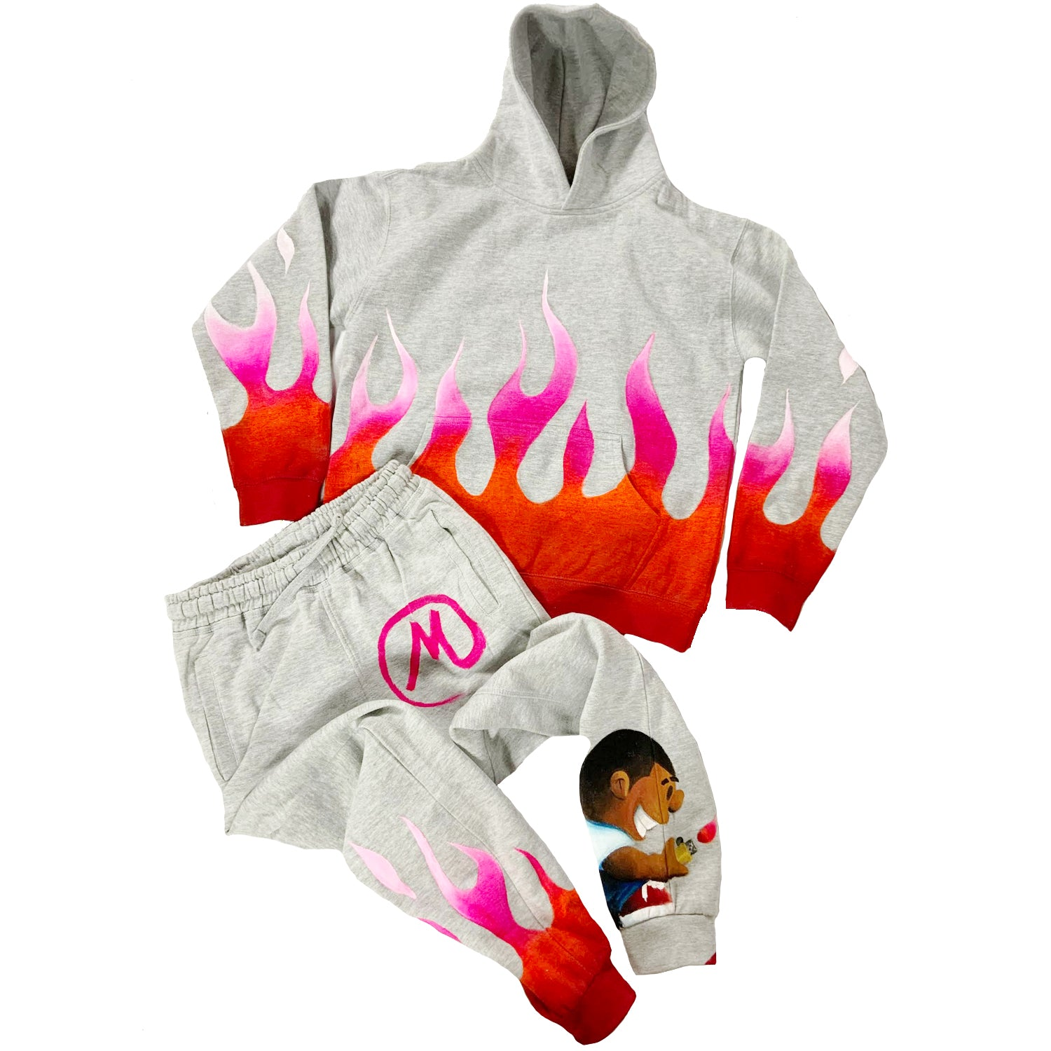 "Custom Powerful Paul ""Flame"" Jogger Set"