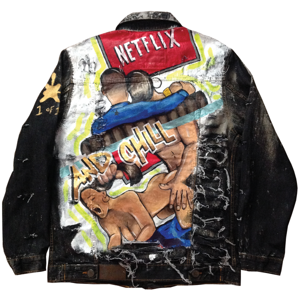 "Custom ""Netflix and Chill"" Jean Jacket - BYN Customs"