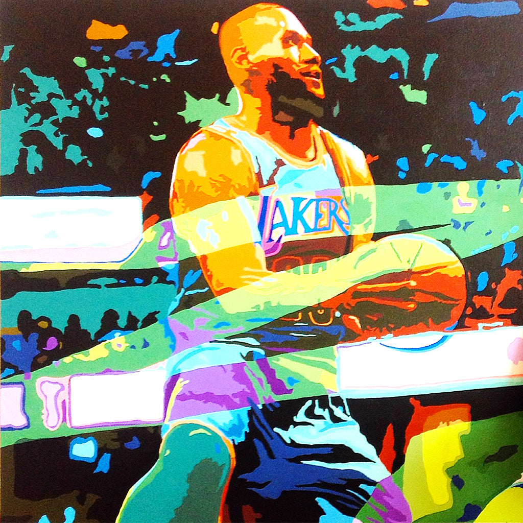 Custom Lebron James Painting