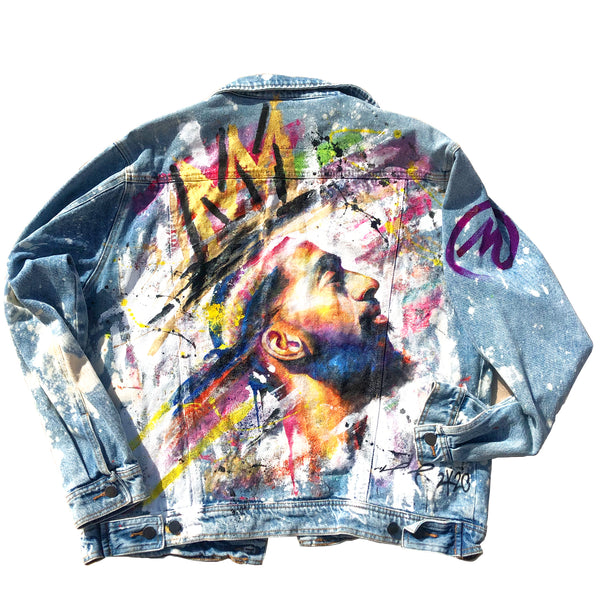 "Custom ""King Nipsey"" Jean Jacket"
