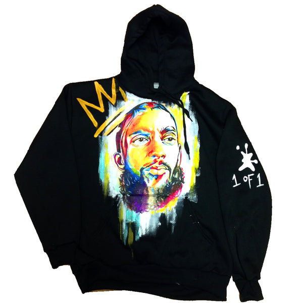 "Custom ""Neighborhood Art"" Nipsey Hussle Hoodie"