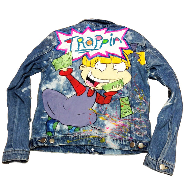 "Custom Angelica ""Trappin"" Jean Jacket"