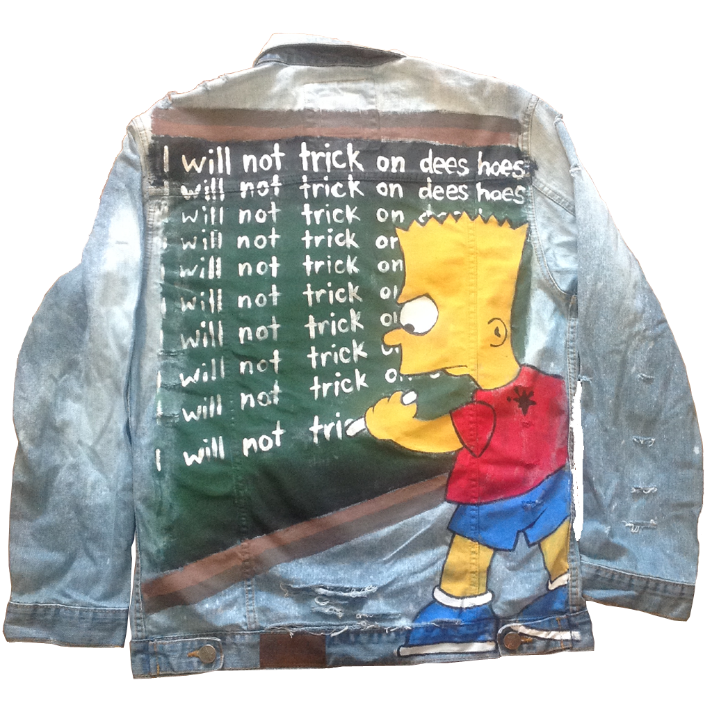 "Custom ""No Trickin"" Jean Jacket"