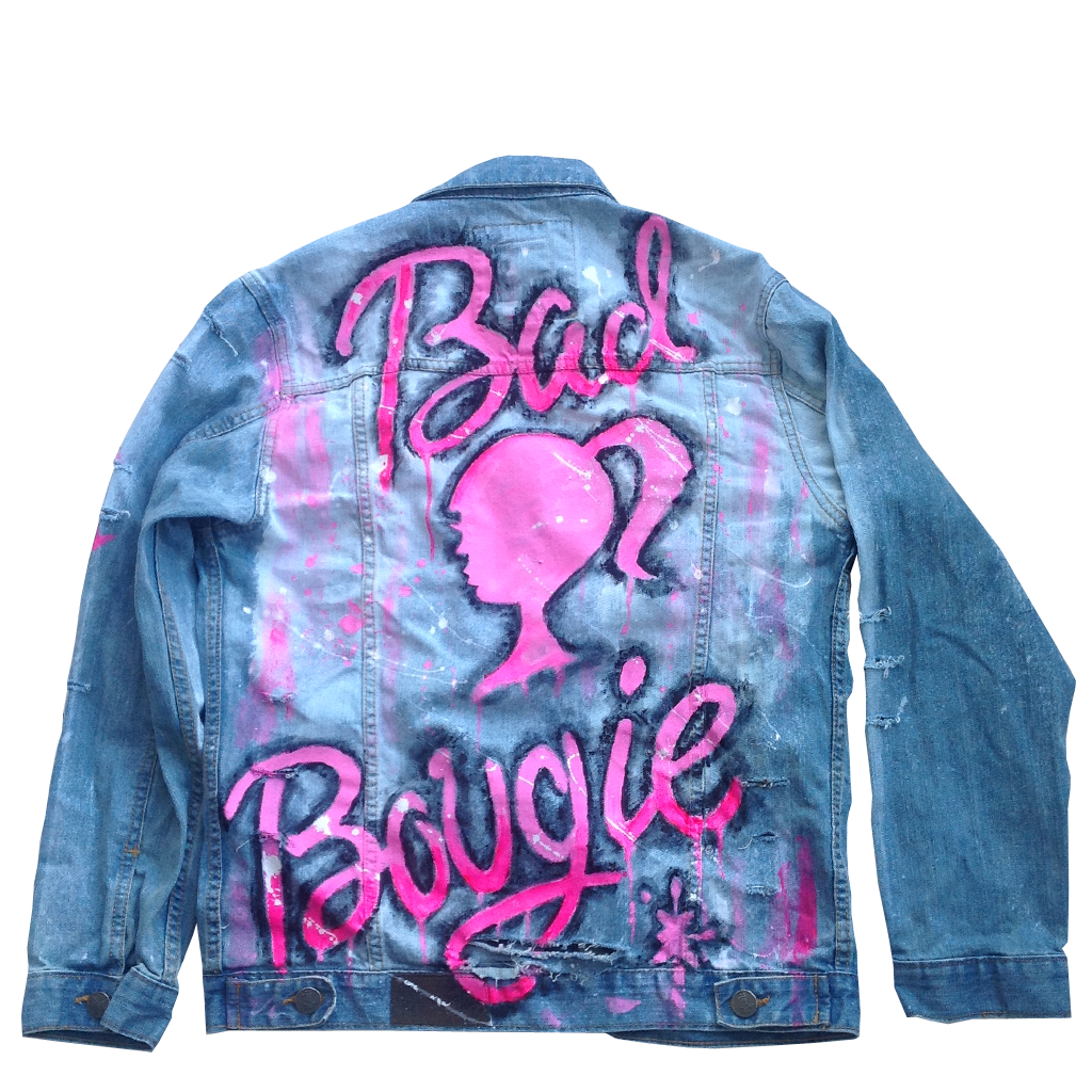 "Custom ""Bad and Bougie"" Jean Jacket"