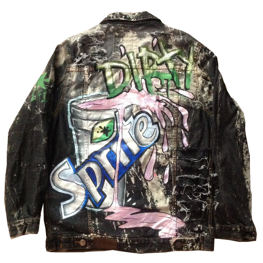 Custom Dirty Sprite Jean Jacket - BYN Customs