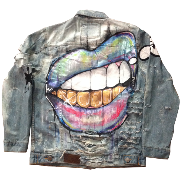 Custom Bottom Grill Jean Jacket - BYN Customs