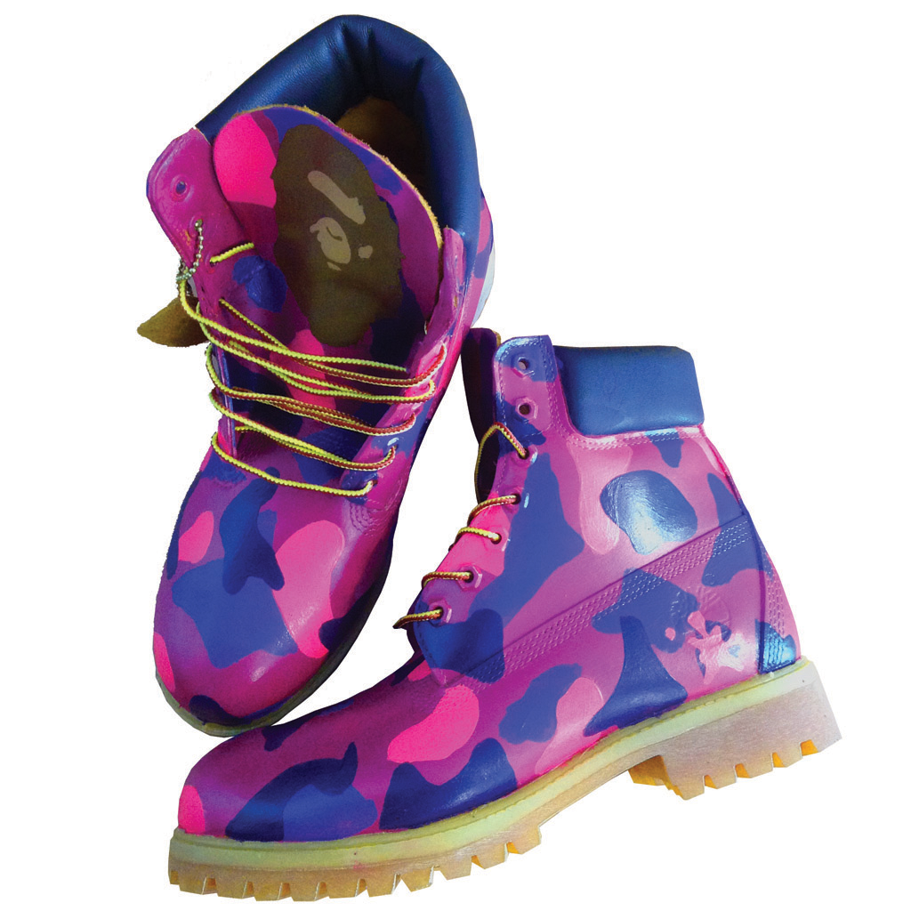 Custom Purple Camo Timberlands | BYN Customs