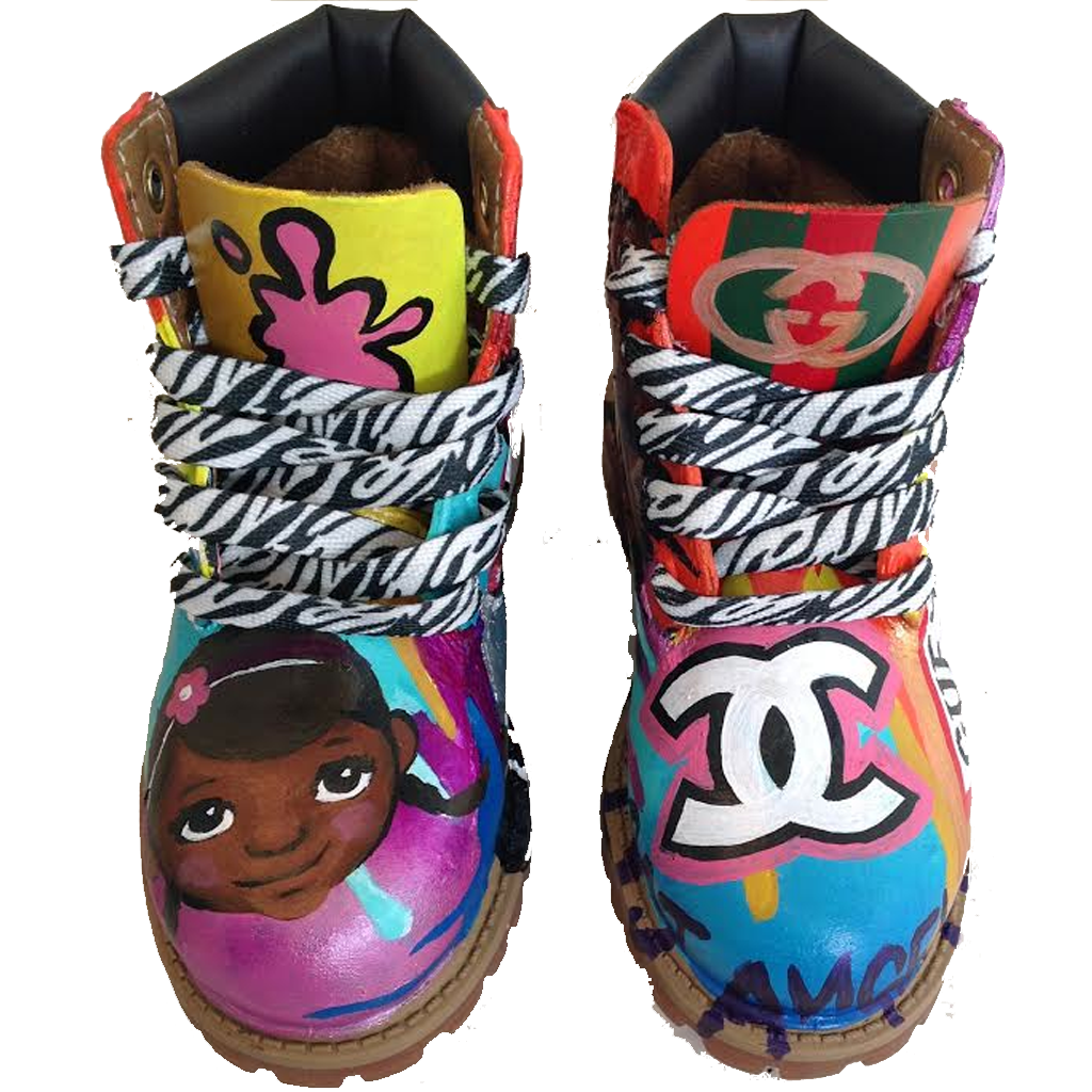 Girl Code Custom Timberlands - BYN Customs - 4