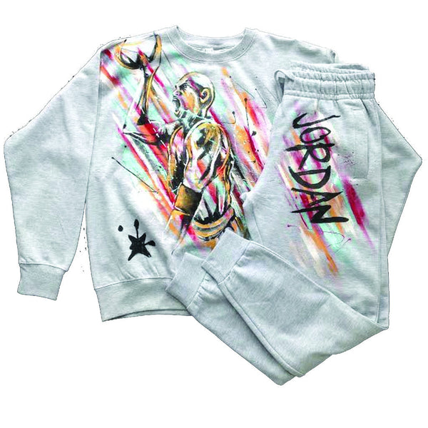 Michael Jordan Crewneck and Jogger set - BYN Customs - 1