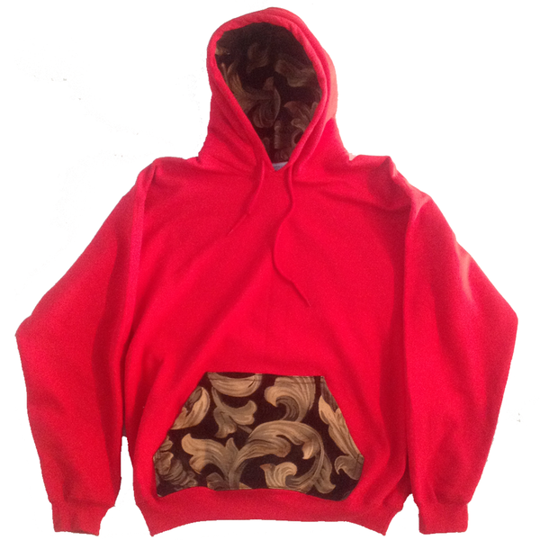Red Couture Print Hoodie - BYN Customs