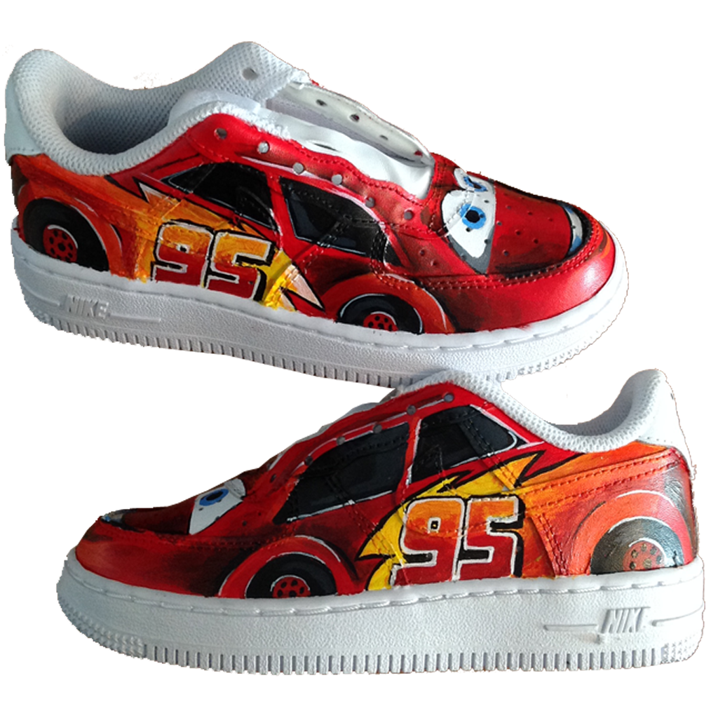 Custom Baby Lightning McQueen Force Ones - BYN Customs - 1