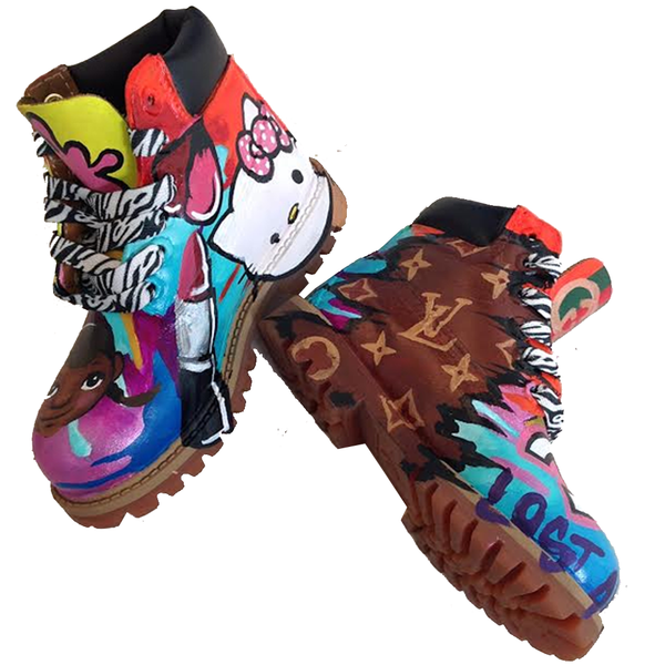 Girl Code Custom Timberlands - BYN Customs - 1