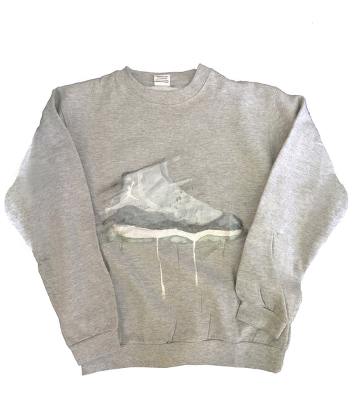Custom Cool Grey Jordan 11 Crewneck Sweater - BYN Customs