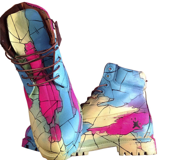 Custom Tropical Earthquake Timberlands - BYN Customs - 1