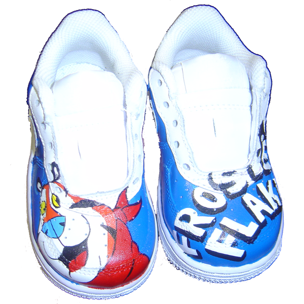 Custom Baby Frosted Flakes Air Force Ones - BYN Customs - 1