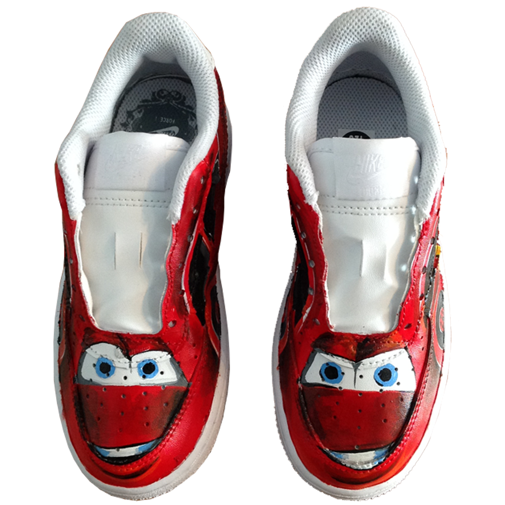 Custom Baby Lightning McQueen Force Ones - BYN Customs - 2