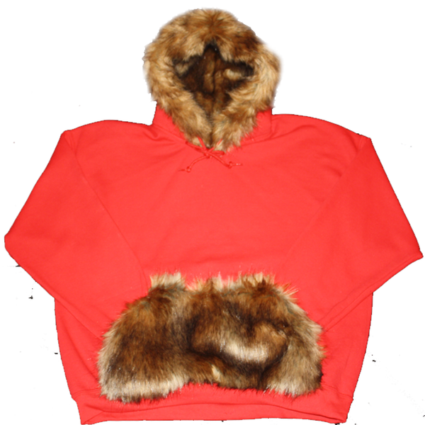 Red Fur Hoodie - BYN Customs
