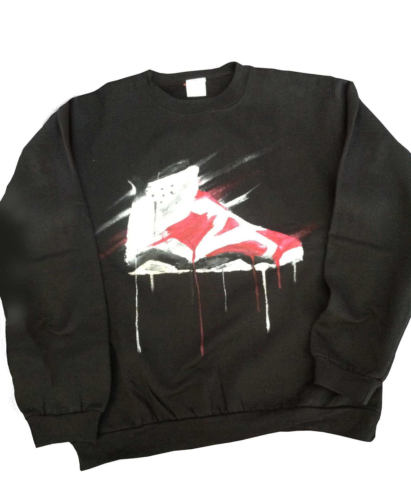 Custom Jordan Carmine 6 Crewneck Sweater - BYN Customs
