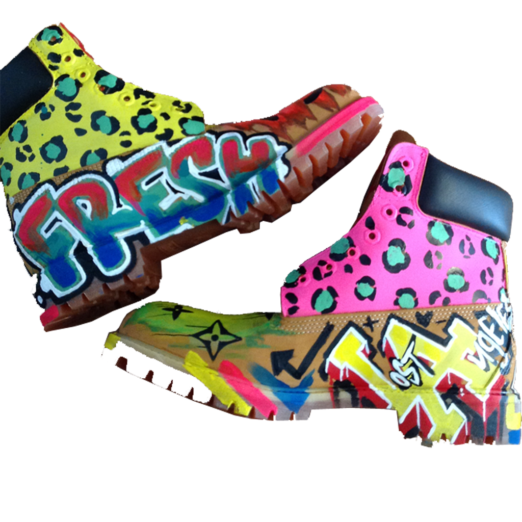 Custom Graf Fashion Timberlands - BYN Customs - 2