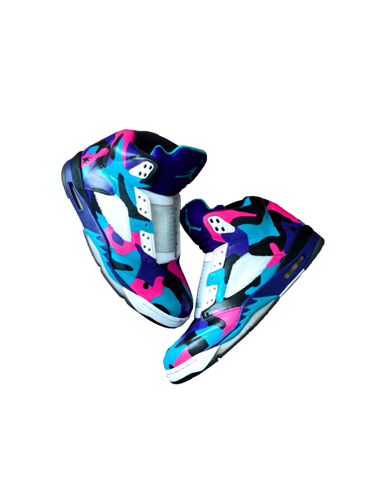 South Beach Camo Jordan 5's - BYN Customs