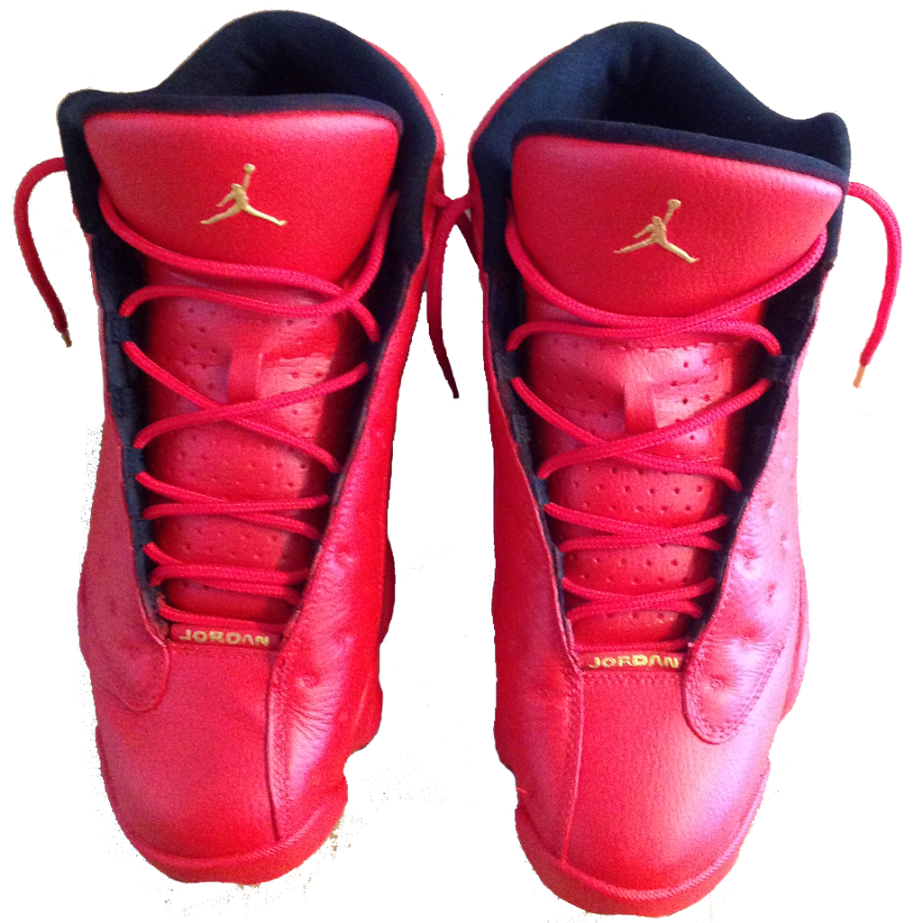 Red October Jordan 13's - BYN Customs - 2