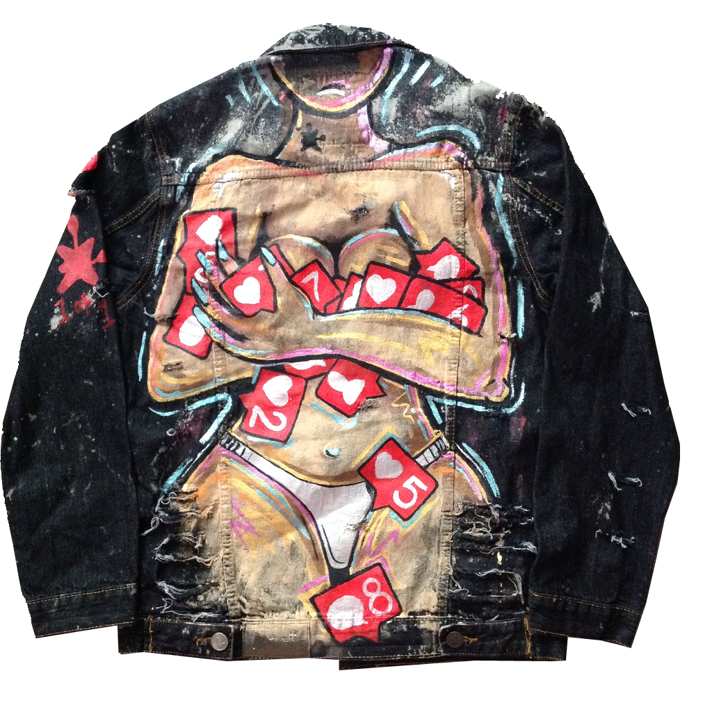 Custom Addicted To Likes Jean Jacket - BYN Customs