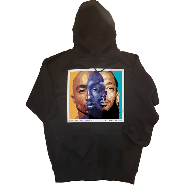 """Two Men ONE Vision"" 2pac and Nipsey Hussle Hoodie"