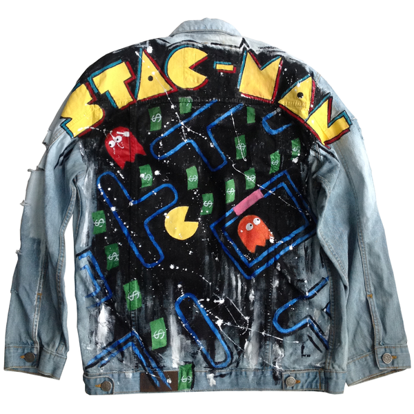 "Custom ""Stac Man"" Jean Jacket"