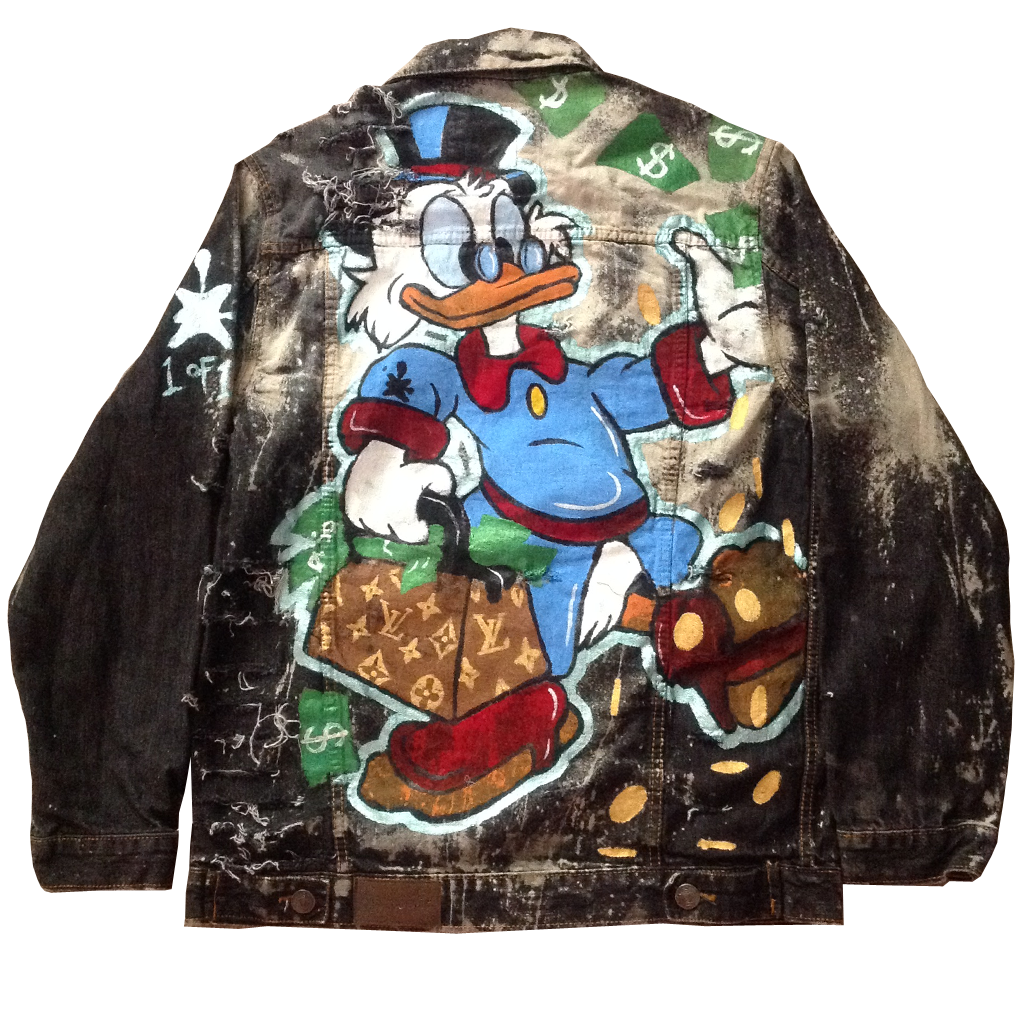 Custom Scrooge LV Jean Jacket - BYN Customs
