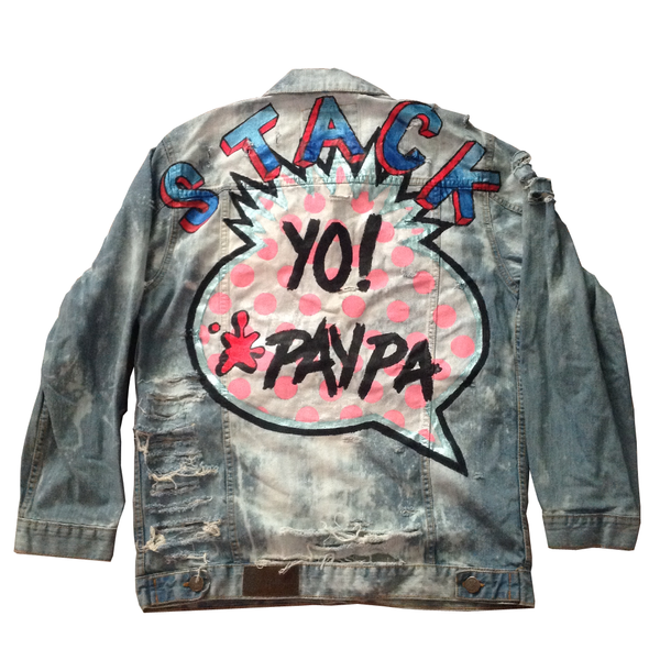 "Custom ""Stack Yo Paypa"" Jean Jacket - BYN Customs"