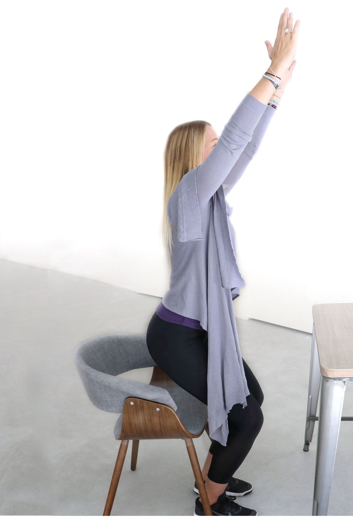 5. Chair Pose/Utkatasana