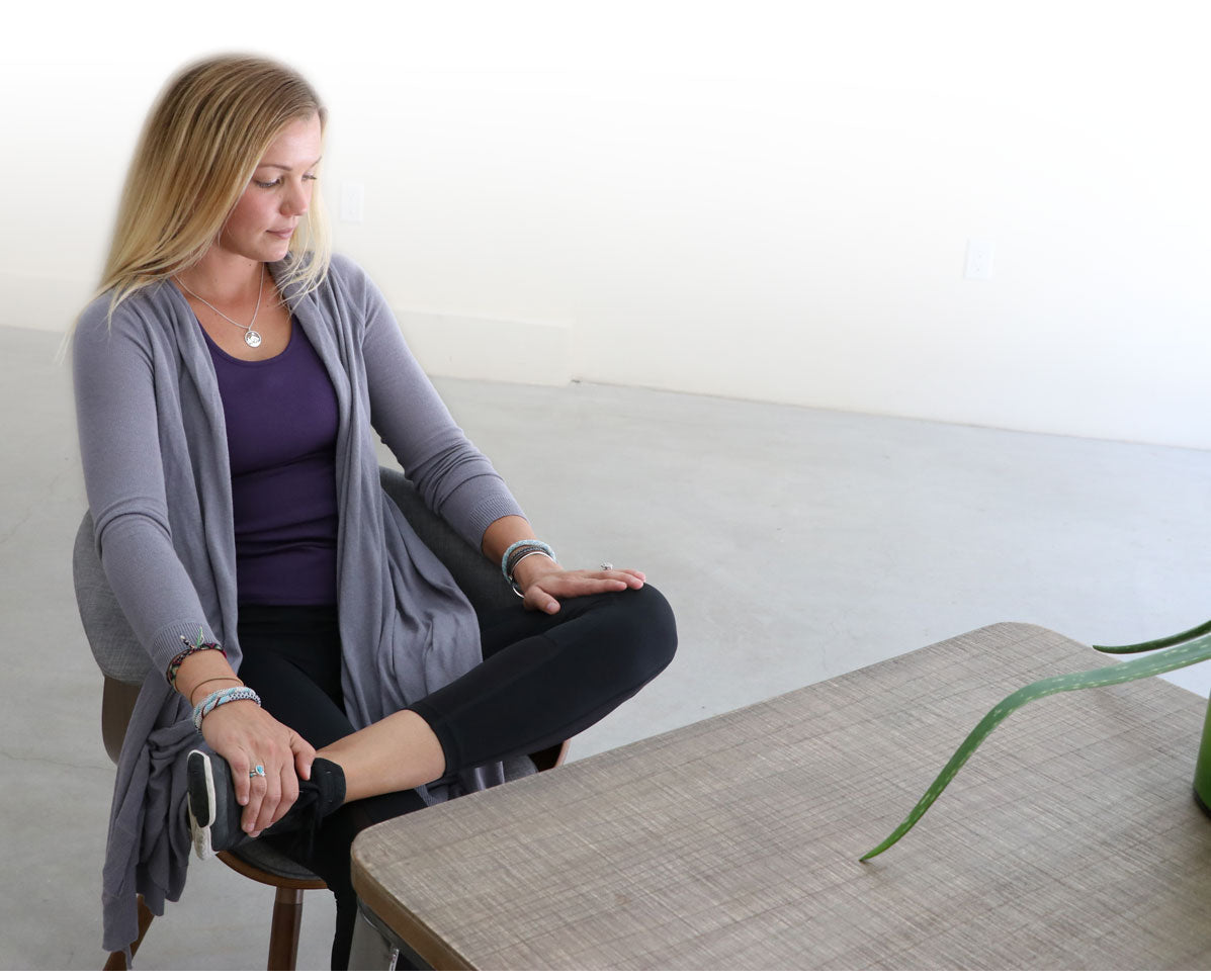 Chair Yoga - Seated Pigeon Pose