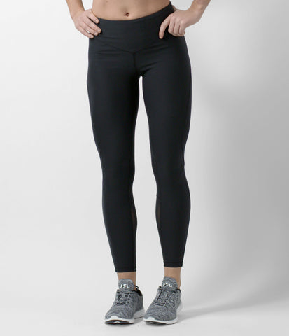 mid rise 7/8 tight - black